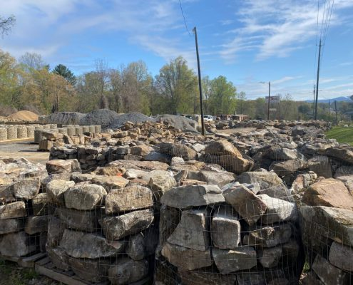 Asheville Yard - Boulders
